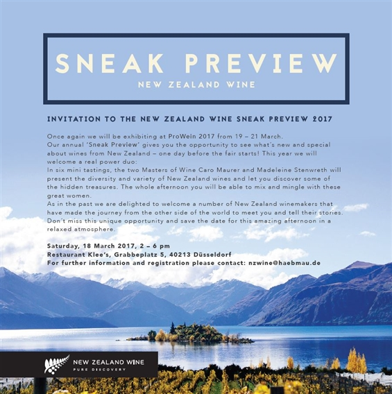 New Zealand Wine Sneak Preview