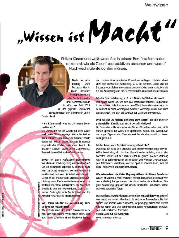 Wie wird man Sommelier? Philipp Künemund im Interview.