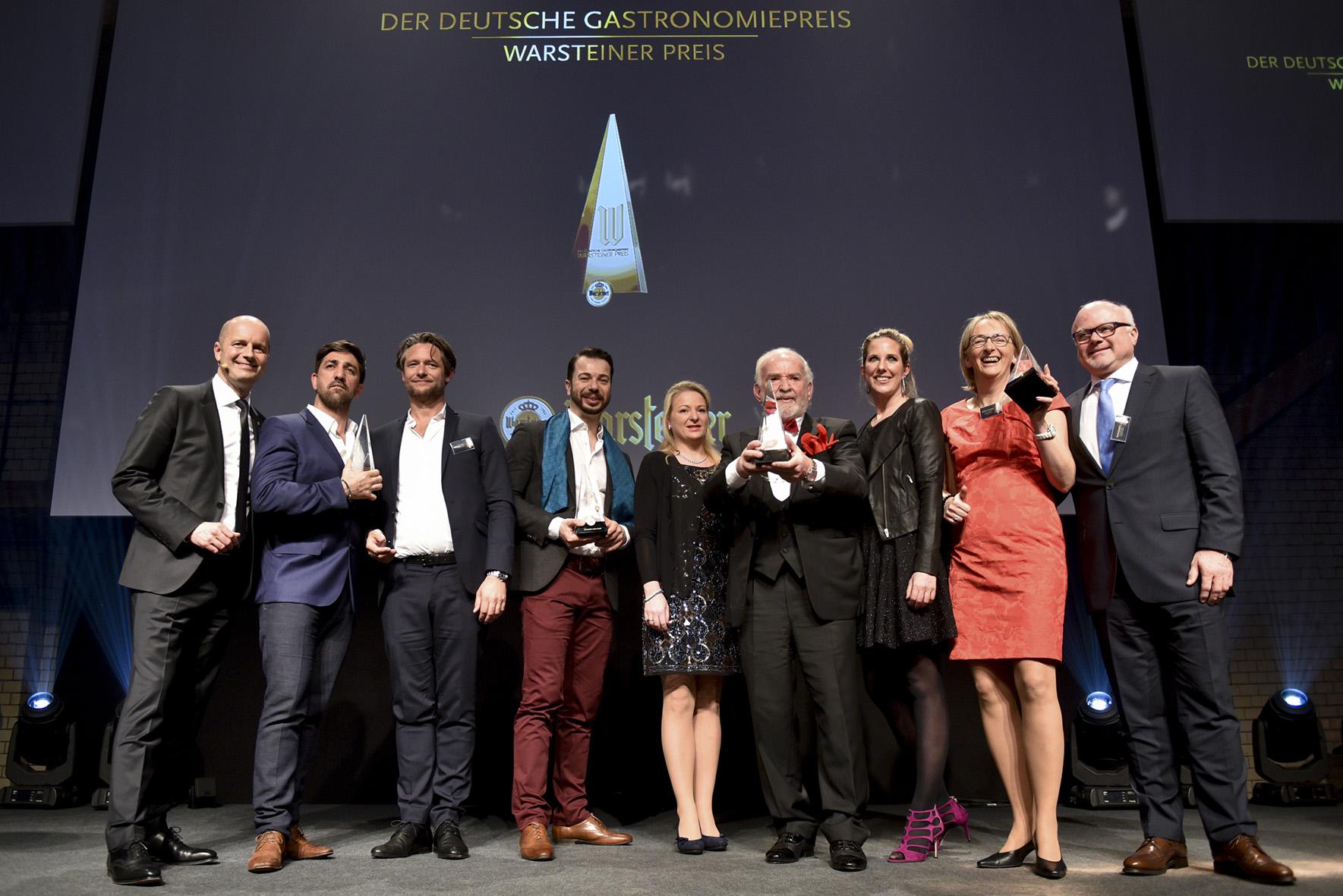 Bernd Glauben beim Deutschen Gastronomiepreis 2017 ausgezeichnet