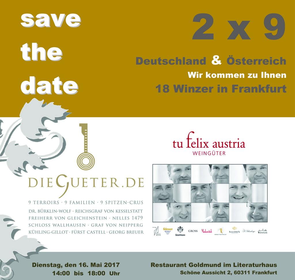2 x 9 = 18 Winzer in Frankfurt