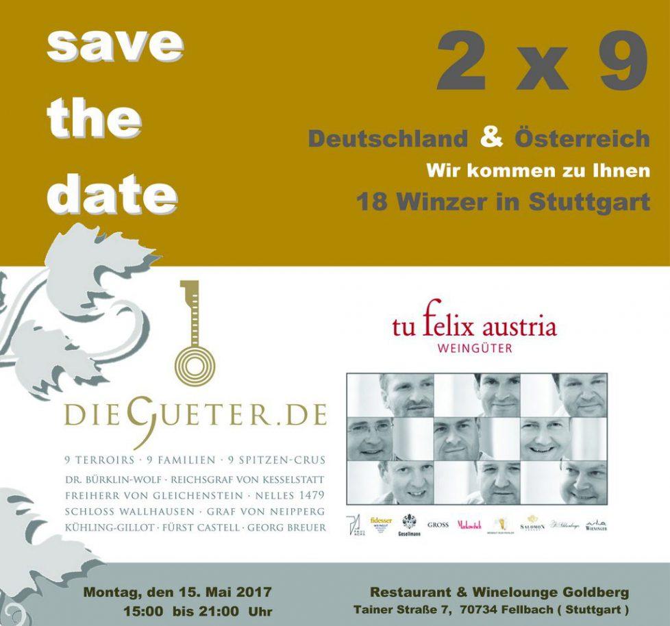 2 x 9 = 18 Winzer in Stuttgart