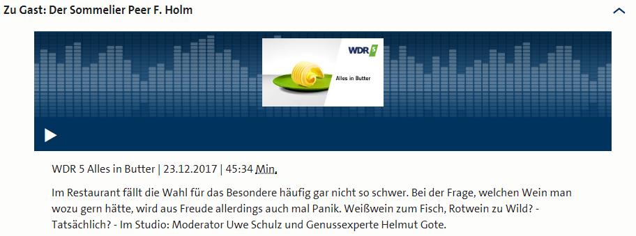 Screenshot - Das Magazin fürs Genießen - WDR 5 Alles in Butter - WDR 5 - Audio - Mediathek -