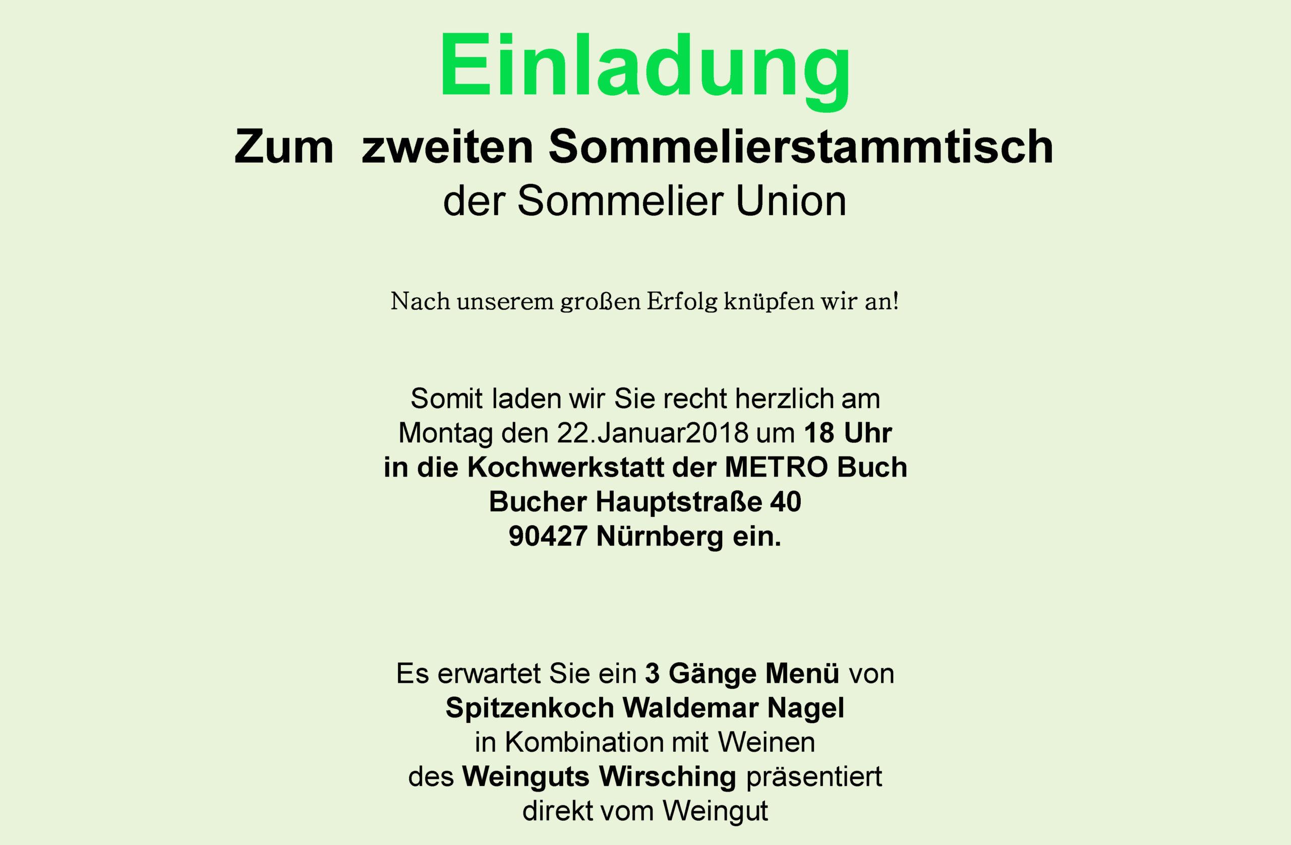 Zweiter Sommelierstammtisch - Nürnberg