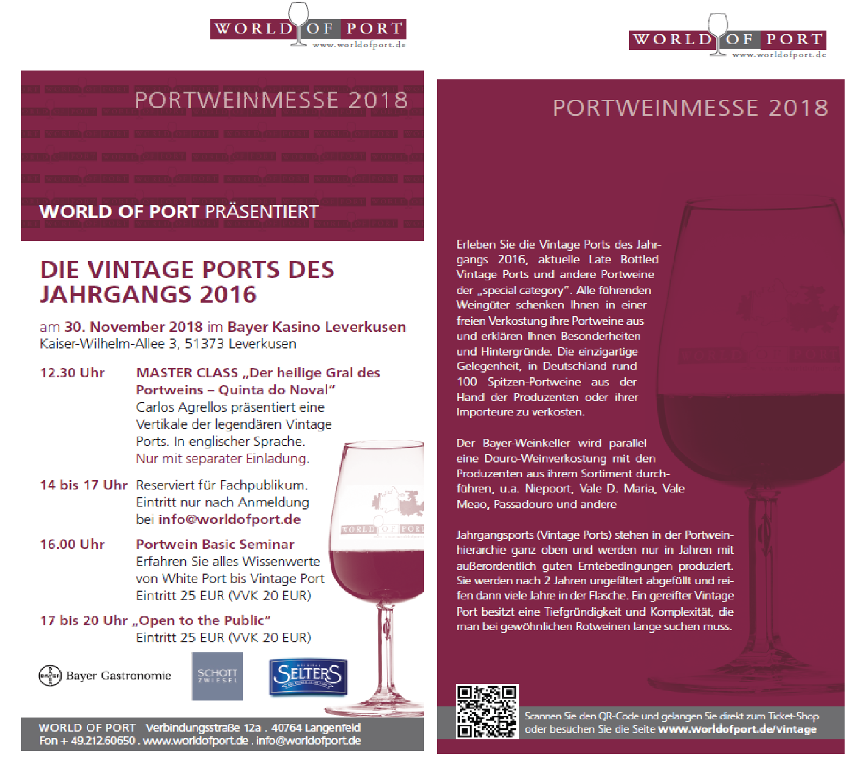 Portweinmesse Flyer