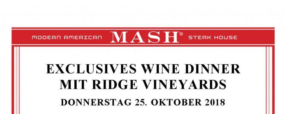 Ridge Wine Dinner