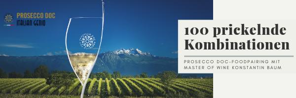 Prosecco DOC Foodpairing mit Master of Wine Konstantin Baum