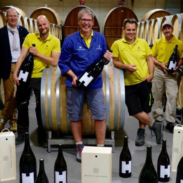 Sommelier Union Seite an Seite im Weinberg vom Weingut Heitlinger 3