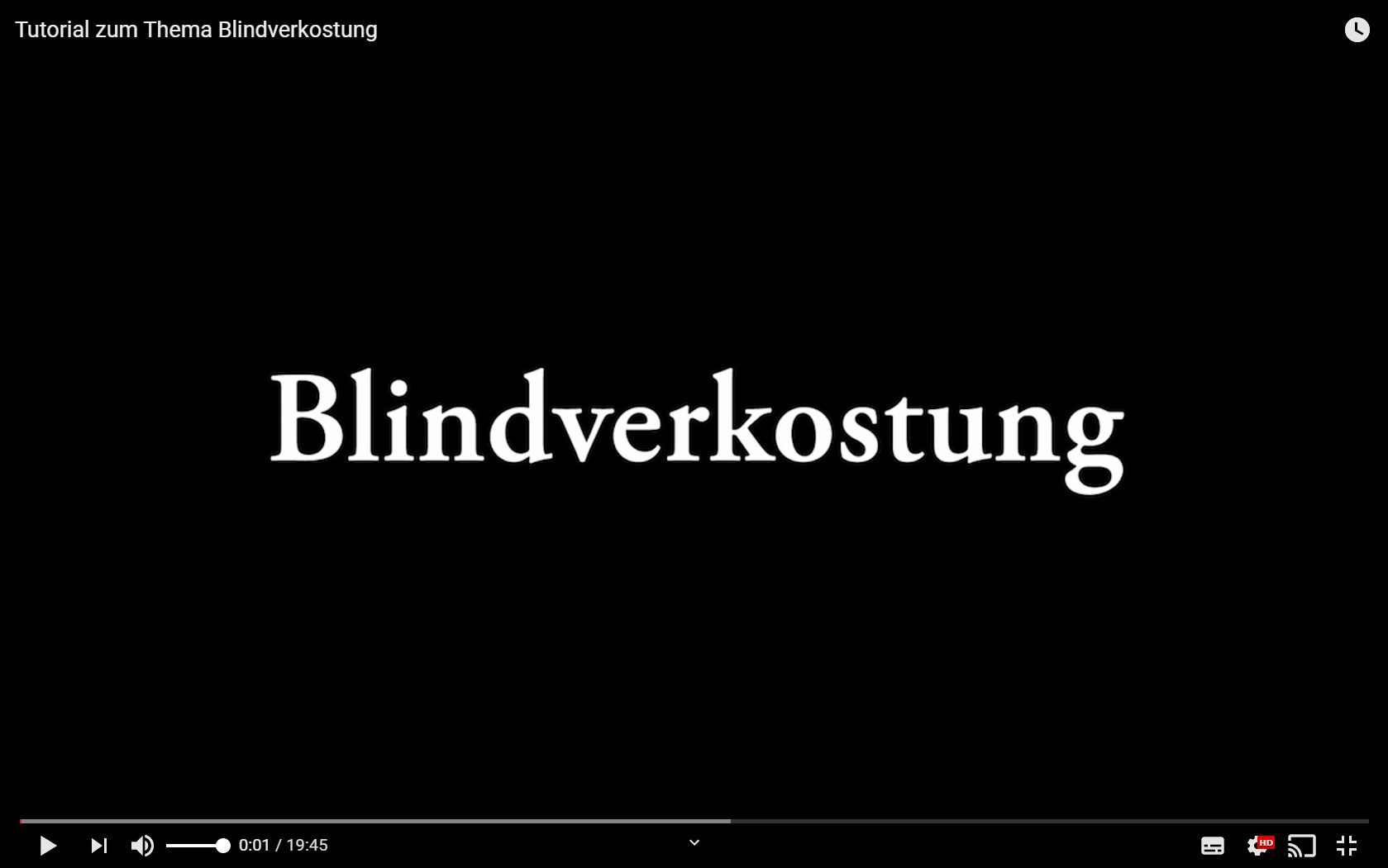 DWI Tutorial zum Thema Blindverkostung - YouTube