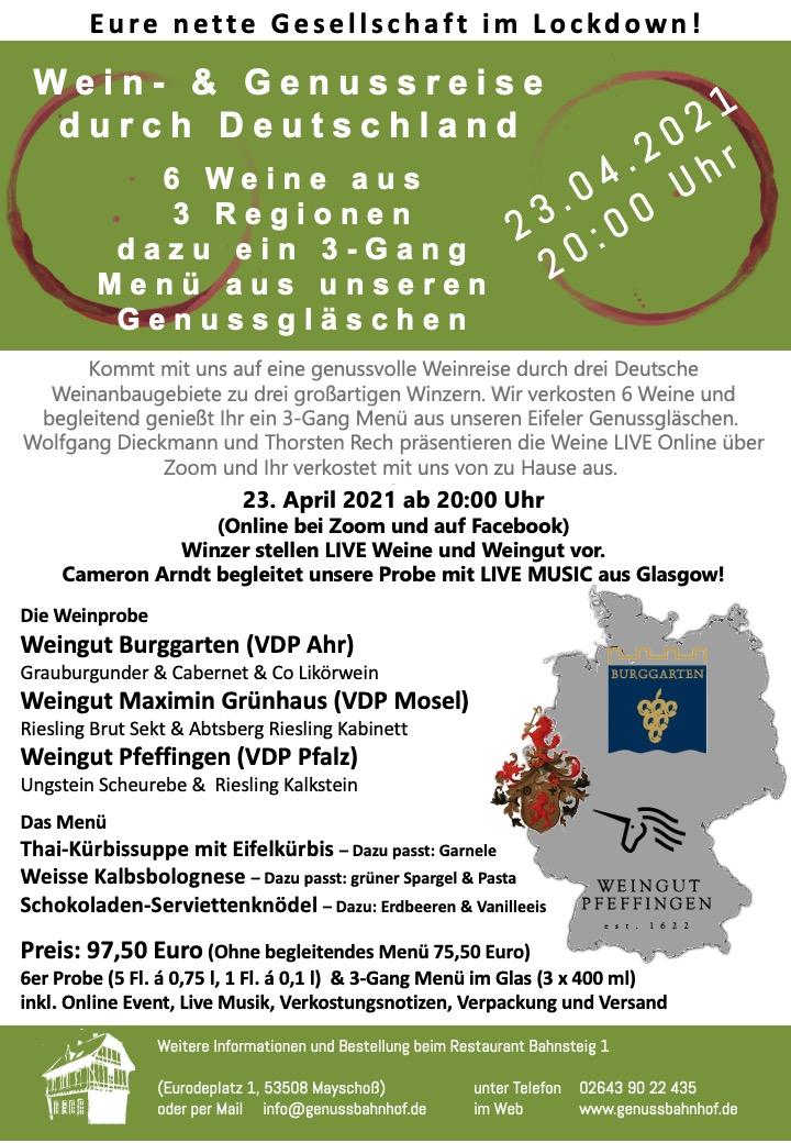 Deutschlandreise Teil 3 – Wein- und Genussreise durch Deutschland