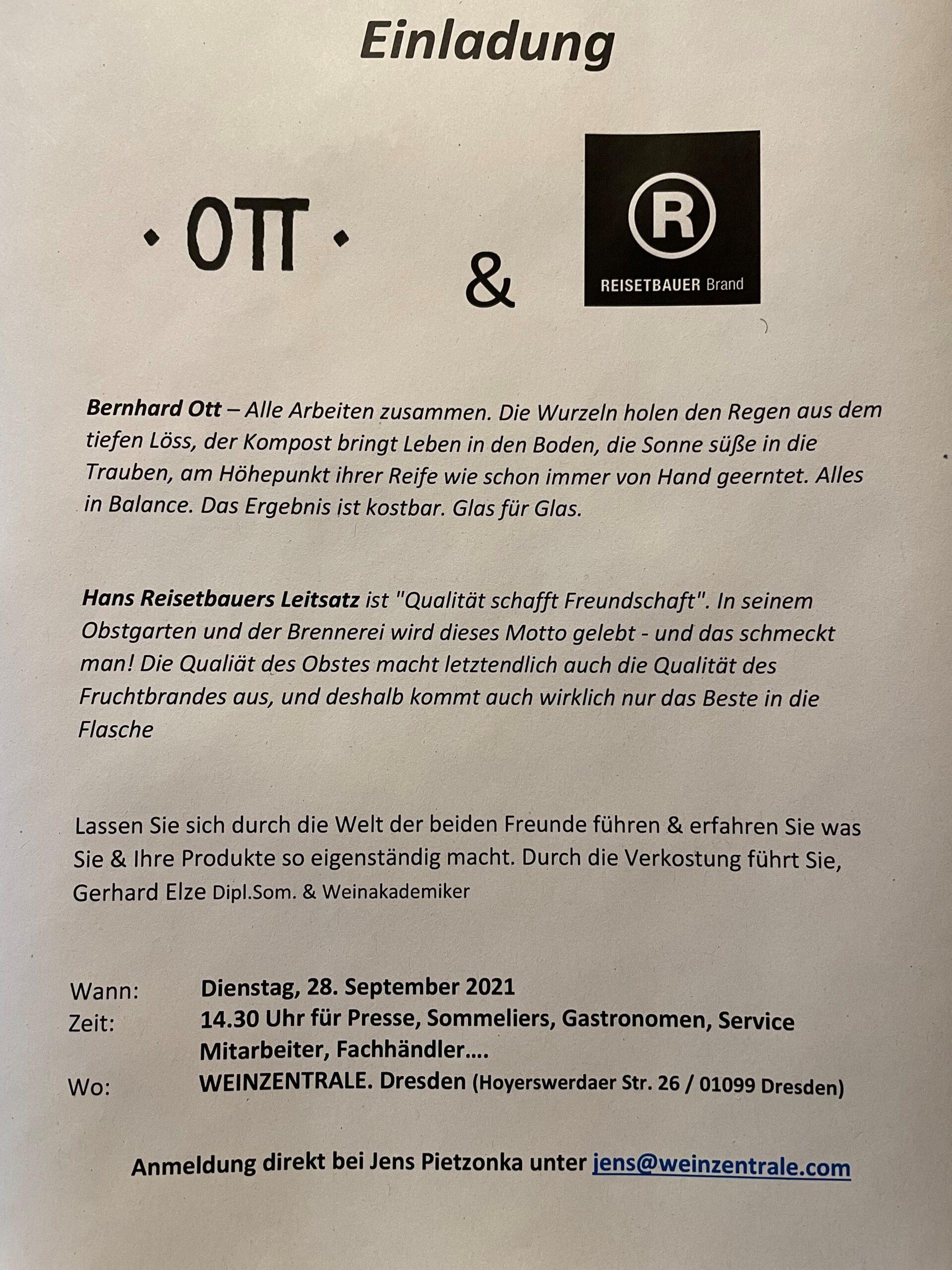 Benrhard Ott & Hans Reisetbauer