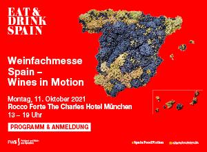 SAVE THE DATE // Wein aus Spanien-Fachmesse Spain – Wines in Motion, 11. Oktober 2021