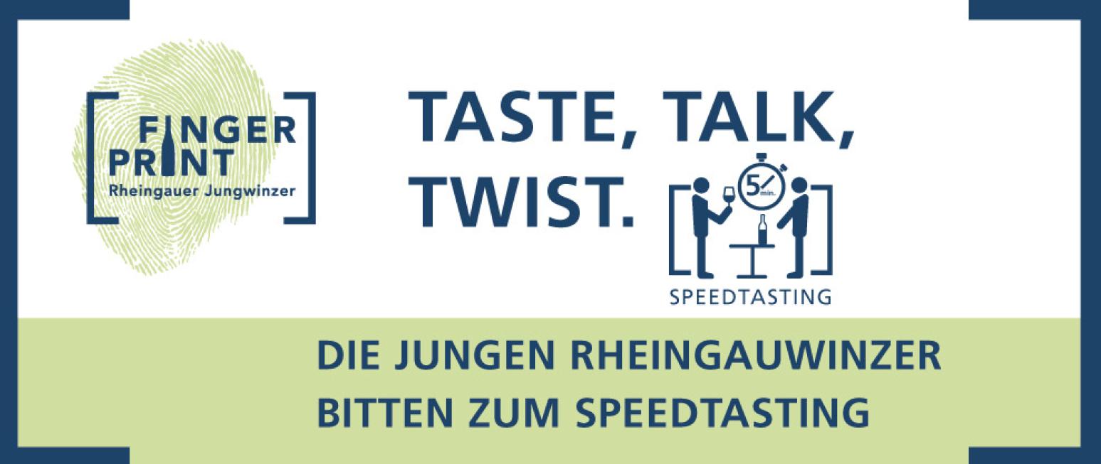 Fingerprint Dresden: Speedtasting mit den Rheingauer Jungwinzern